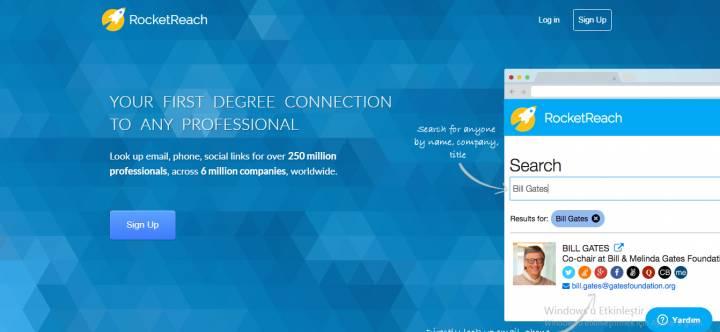 RocketReach Sizi İstediğiniz Yatırımcıya ve Müşteriye Ulaştırıyor