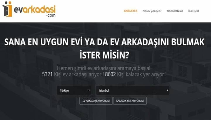 Evarkadasi.com: Sana En Uygun Ev Arkadaşını Bulmak İster misin?